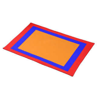 Red Orange and Blue Placemat