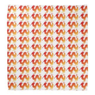 red, orange and yellow dragon bandana