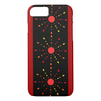 Red, orange and yellow rays. iPhone 7 case