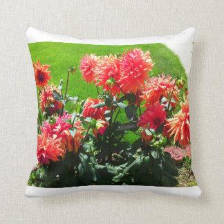 Red Orange Dhalia Pillow Throw Cushion