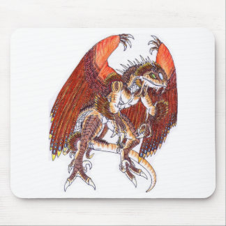 Red/orange dragon guy mouse pad
