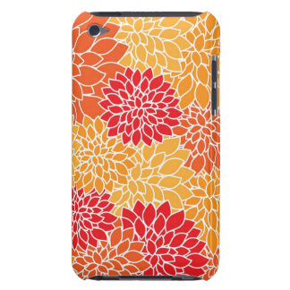 Red/Orange Floral Pattern iPod Touch Case