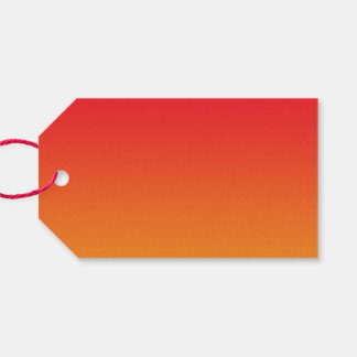 Red & Orange Ombre Pack Of Gift Tags