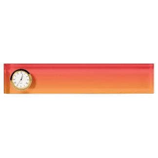 Red & Orange Ombre Desk Name Plate
