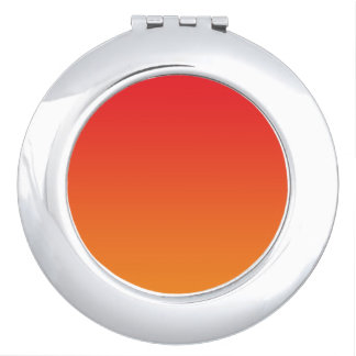 Red & Orange Ombre Makeup Mirror