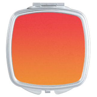 Red & Orange Ombre Travel Mirror