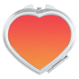 Red & Orange Ombre Compact Mirror