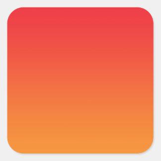 Red & Orange Ombre Square Sticker