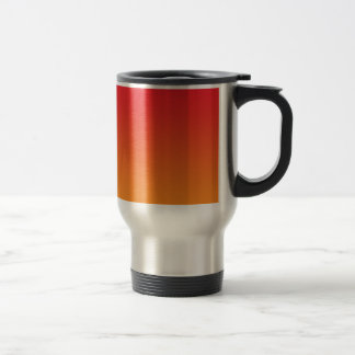 Red & Orange Ombre Stainless Steel Travel Mug