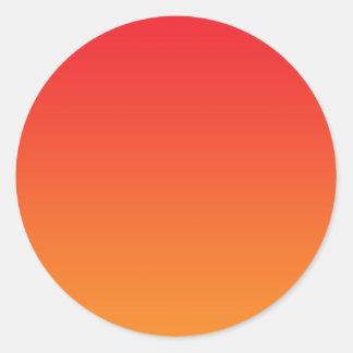 Red & Orange Ombre Round Sticker