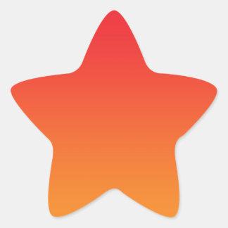 Red & Orange Ombre Star Stickers