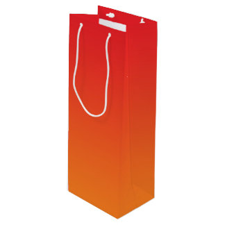 Red & Orange Ombre Wine Gift Bag