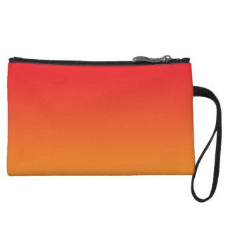Red & Orange Ombre Wristlet