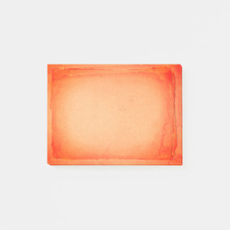 Red Orange Painted Screen Print Artistic Post-it® Notes