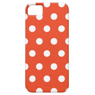 Red Orange Polka Dot iPhone 5 Cases