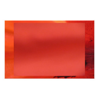 Red Orange Stationery Paper