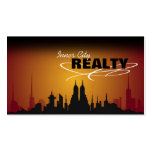 Red & Orange Sunset City Realtor Business Card