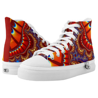 Red Orange Sunset Remix High Top Shoes Printed Shoes