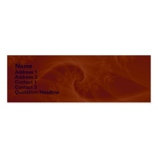 Red Orange Twist Card Pack Of Skinny Business Cards