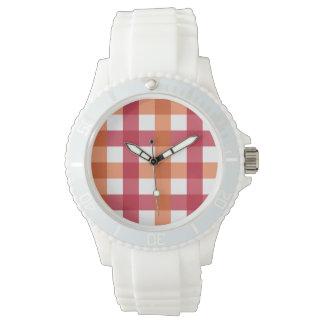 Red Orange White Silicone Strap Wrist Watches