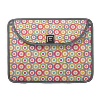 Red, Orange, Yellow, and Teal Retro Circles Sleeve For MacBook Pro