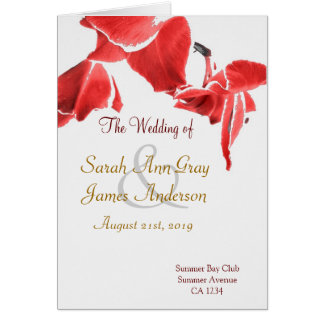 Red orchids exotic wedding program