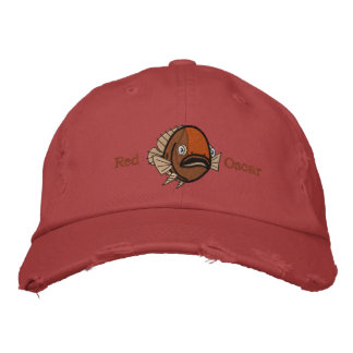 Red Oscar Fish Embroidered Hat