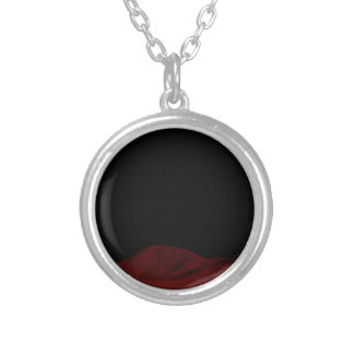 Red Outer Space Silver Plated Necklace