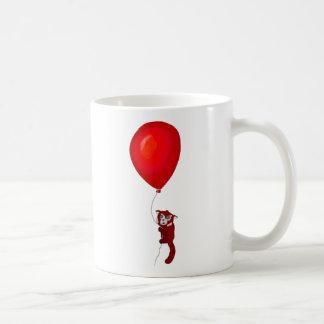 Red Panda Balloon Flight Coffee Mug