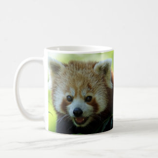 Red panda is awake! coffee mug