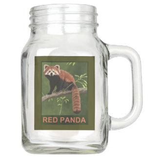 Red Panda Mason Jar