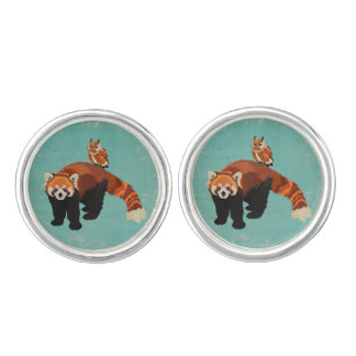 Red Panda & Owl Cuff Links