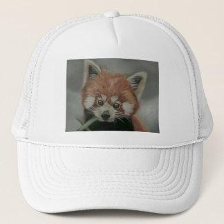 Red Panda Pastel Painting Hat
