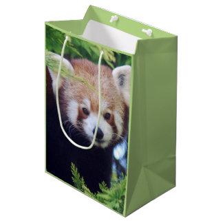 Red Panda Pattern Medium Gift Bag