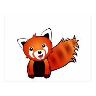 Red panda post card