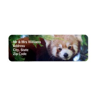 Red Panda Return Address Label