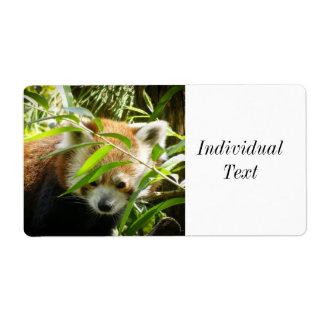 Red Panda Shipping Label