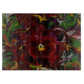 Red Pansy Cutting Board