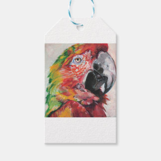 Red Parrot Gift Tags