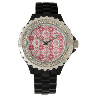 red pattern watches