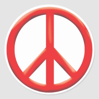RED PEACE SIGN STICKER
