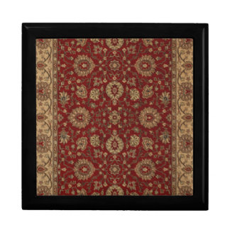 Red Persian scarlet arabesque tapestry Gift Box