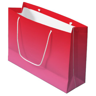 Red & Pink Ombre Large Gift Bag