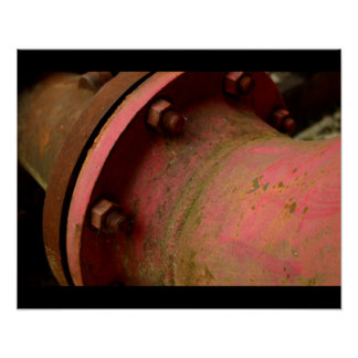 Red Pipe Print