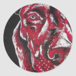 Red Pitbull Stickers