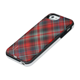 Red Plaid iPhone SE/5/5s Battery Case