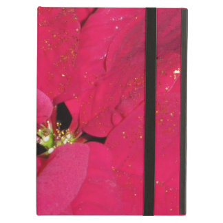 Red poinsettia cover for iPad air