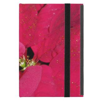 Red poinsettia cover for iPad mini