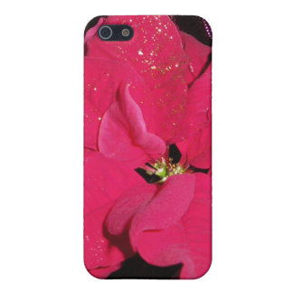 Red poinsettia iPhone 5/5S case