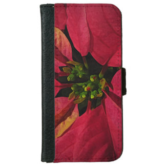 Red Poinsettia iPhone 6 Wallet Case